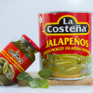 Green pickled jalapeno peppers