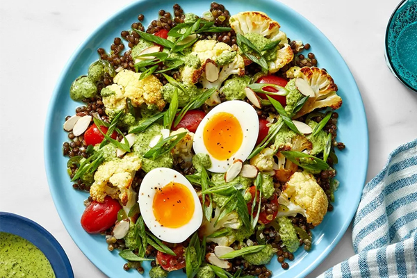 Salad súp lơ đậu lăng